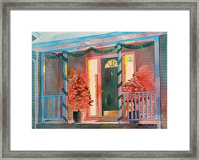 A Christmas At Home Framed Print