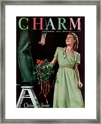 A Christmas Charm Cover Framed Print by Elliot Clarke