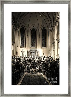 A Christmas Choir Framed Print