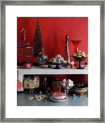 A Christmas Display Framed Print