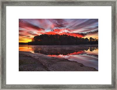 A Christmas Eve Sunrise Framed Print by Gordon Elwell