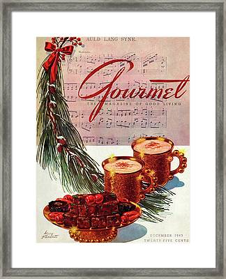 A Christmas Gourmet Cover Framed Print by Henry Stahlhut