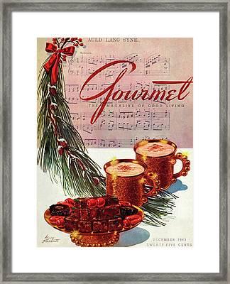 A Christmas Gourmet Cover Framed Print