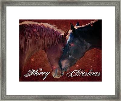 A Christmas Moment Framed Print by Jacque The Muse Photography
