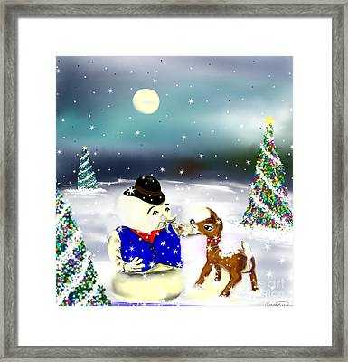 A Christmas Night Framed Print by Lori  Lovetere