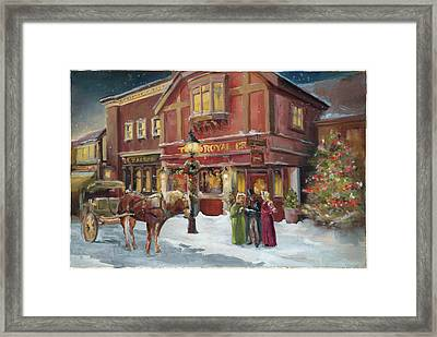 A Christmas Night - Recolor Framed Print by Marilyn Hageman