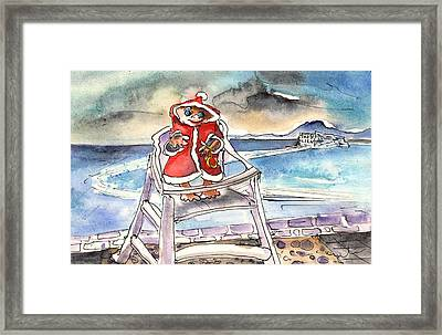 A Christmas Troll In Lanzarote Framed Print