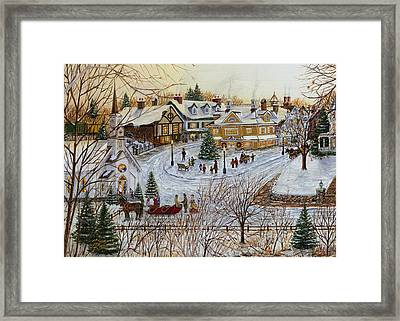 A Christmas Village Framed Print by Doug Kreuger