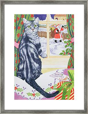 A Christmas Visitor For Toby Framed Print by Suzanne Bailey