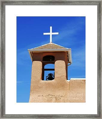 A Church Bell In The Sky 2 Framed Print by Mel Steinhauer