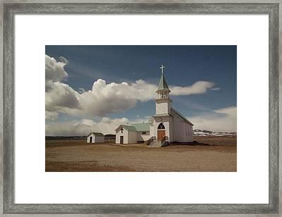 A Church In Eastern Montana Framed Print by Jeff Swan