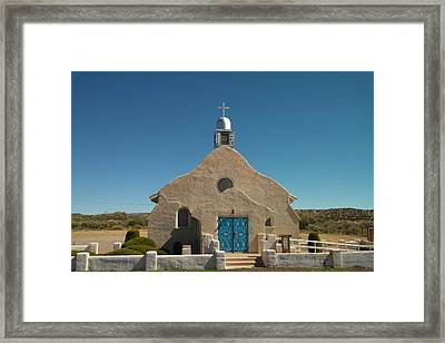 A Church In New Mexico Framed Print