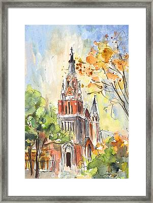 A Church In Our Street In Budapest Framed Print by Miki De Goodaboom
