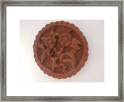 A Circle Of Flowers Framed Print by Esther Newman-Cohen