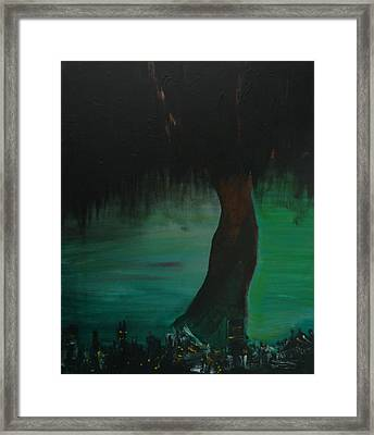 A City And Its Roots Framed Print by Josephine Tsay