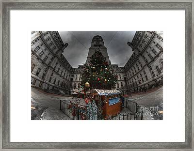 A City Hall Christmas Framed Print by Mark Ayzenberg