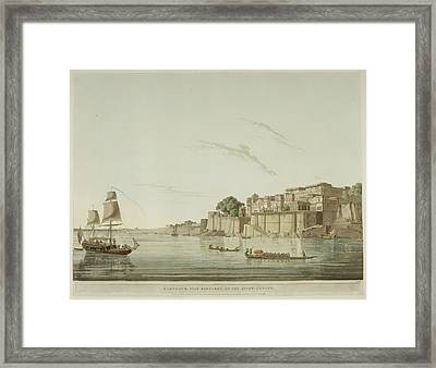 A City On The River Ganges. Framed Print by British Library