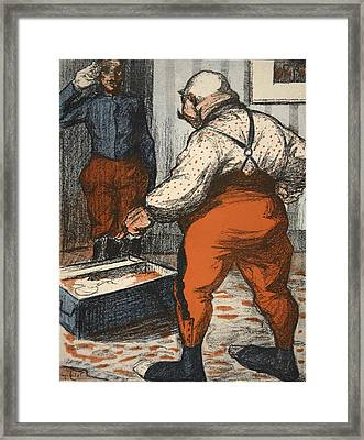 A Civil Servant Overseeing Framed Print by Eugene Cadel