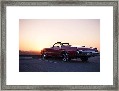 A Classic At Sunset Framed Print by Lee Costa