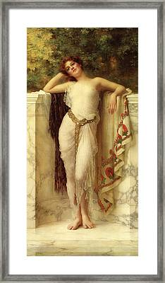 A Classical Beauty Framed Print by William Clarke Wontner