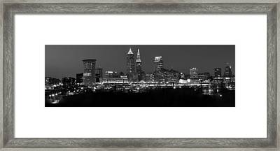 A Cleveland Black And White Night Framed Print by Frozen in Time Fine Art Photography
