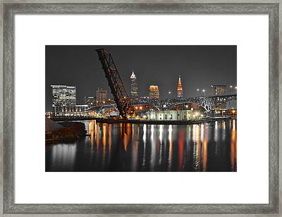 A Cleveland Night Framed Print by Frozen in Time Fine Art Photography