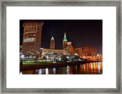 A Cleveland Night Framed Print