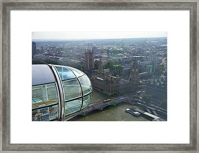 A Close-up Shot Of The Glass Capsule Framed Print