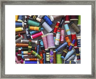 A Close View Of Threads Framed Print by Bernard Jaubert