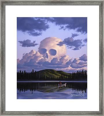 A Cloud Formation Depicting A Skull Framed Print