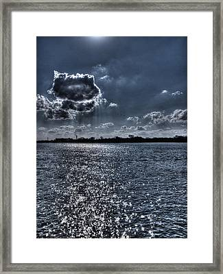 A Cloud Hanging Over The City Framed Print by Thomas Young