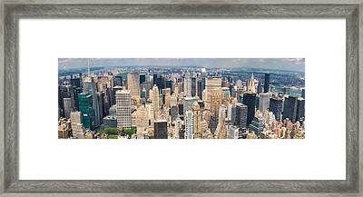 Framed Print featuring the photograph A Cloudy Day In New York City   by Lars Lentz
