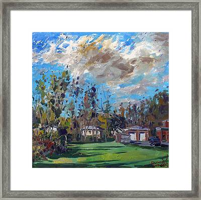 A Cloudy Fall Day Framed Print by Ylli Haruni