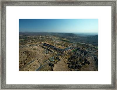 A Coal Mine And Its Destructive Impact Framed Print by Beverly Joubert