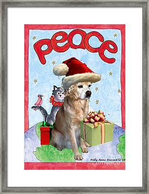 Framed Print featuring the digital art A Cocker Spaniel's Christmas Greeting Card by Polly Peacock