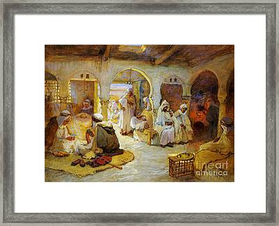 A Coffee House Framed Print by Celestial Images