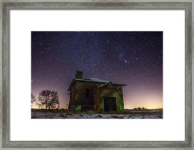 A Cold Dark Place Framed Print by Aaron J Groen