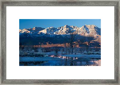A Cold Dawn Light Framed Print