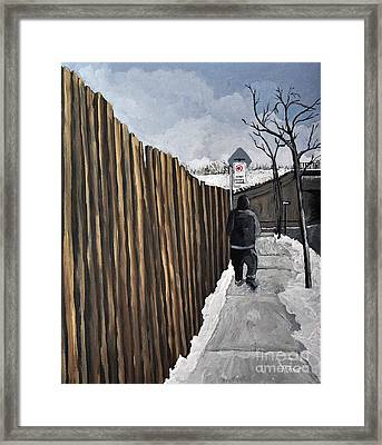 A Cold Day In Pointe St. Charles Framed Print by Reb Frost