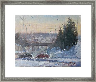 A Cold Morning Framed Print by Ylli Haruni