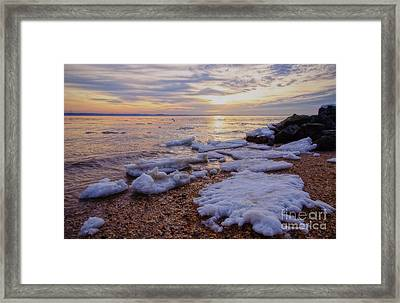 Framed Print featuring the photograph A Cold Sandy Hook Winter by Debra Fedchin