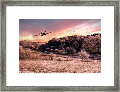 A Cold Winters Morning  Framed Print by J Biggadike