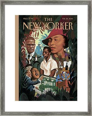 A Collage Of Famous African Americans Framed Print by Kadir Nelson