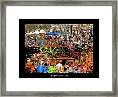 A Collage Of San Francisco Framed Print by Joseph Coulombe