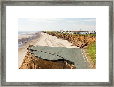 A Collapsed Coastal Road Framed Print
