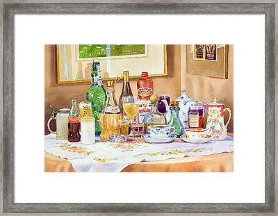 A Collection Of Drinks Framed Print