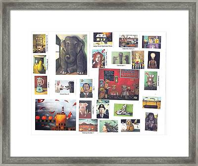 A Collection Of My Work Framed Print by Leah Saulnier The Painting Maniac