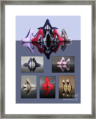 A Collection Of Stiletto Shoes Framed Print