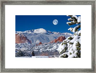A Colorado Christmas Framed Print