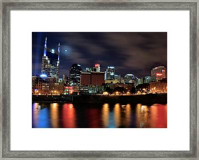 A Colorful Night In Nashville Framed Print